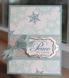Little Bay Stampin': Snowflake card - featuring Stampin' Up! #stampinup #Christmas