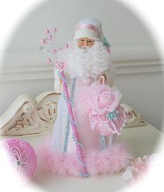 I gave me white santa a pink - over :)