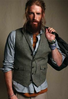British Heritage with a Nordic feel. Casual layering with a waistcoat from John Lewis.