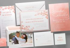 Kleinfeld Paper || Spring Blossoms Wedding Invitation Suite