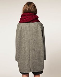 Maison Scotch Egg Coat With Scarf