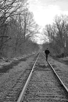 Amanda Brown Online | Write ♥ Design ♥ Create | 1/365-1 | Black and White Photography, Railroad Track Photos