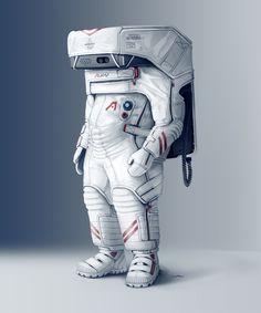 Space Man, Ivan Tantsiura on ArtStation at https://www.artstation.com/artwork/9leKN