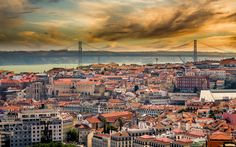 Lisbon Sunset by pauloqfernandes #architecture #building #architexture #city #buildings #skyscraper #urban #design #minimal #cities #town #street #art #arts #architecturelovers #abstract #photooftheday #amazing #picoftheday