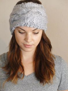 Handmade Knit Cable Headband Knitted Headband by BoPeepsBonnets, $25.00