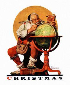 #NormanRockwell, la magia di sognare l'impossibile. A #BabboNatale e alle atmosfere natalizie dedica decine di tavole. Tante diventano copertine del magazine #TheSaturdayEvening, collaborazione iniziata il 20 maggio 1916 e conclusa il 25 maggio 1963. Oltre 50 anni di lavoro e 321 copertine. #LessIsSexy