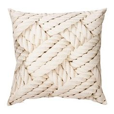 """LISEL Cushion, rope pattern, light beige $9.99 Article Number: 202.705.62 The zipper makes the cover easy to remove. Soft, resilient polyester filling holds its shape and gives your body soft support. Read more Size 20x20"""""""