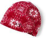 Lands' End Women's 100 Fleece Pattern Hat-Jet Black