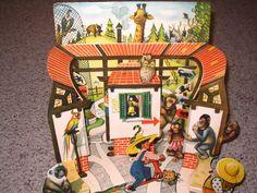 Tip Top at The Zoo Pop Up Book Uncommon Vintage Book Kubasta Czech 1961 | eBay