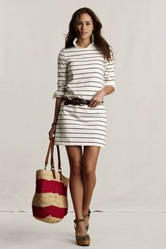 Stripes   Dress = Summer Perfection. You shall be mine.