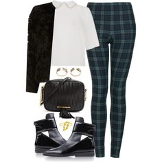 A fashion look from November 2013 featuring bomber style jacket, checked leggings and cut-out booties. Browse and shop related looks. Chill Outfits, Cute Outfits, Rook, Fashion Line, Sweater Weather, Aesthetic Clothes, Autumn Fashion, Fashion Outfits, Animal