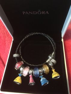 Disney princess Pandora leather bracelet