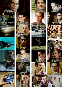 Teen wolf - Stiles alphabet