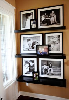 great display...black and whites with a touch of colored prints=LOVE