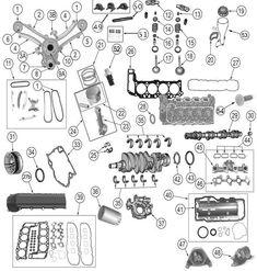 Daimler-Chrysler Engine Parts for Jeep WJ, WK, & Commander Morris 4x4 Center, 2003 Jeep Grand Cherokee, Jeep Wj, Engine Pistons, 2012 Jeep, Mopar, Engineering, Jeep Stuff, Cars