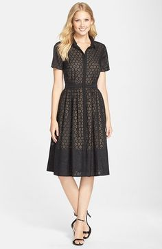 ERIN erin fetherston 'Colette' Organza Fit & Flare Shirtdress available at #Nordstrom