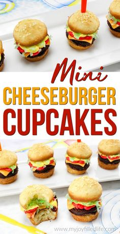 Mini Cheeseburger Cupcakes are the perfect treat for your next picnic or BBQ - easy to make, super cute, and yummy!