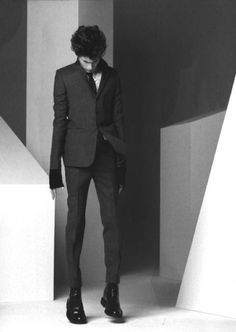 Dior Homme suit by Hedi Slimane. It's tailored razor thin and is the blade that…
