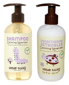 Little Twig All Natural Organic Calming Lavender Hypoallergenic Baby Shampoo  Wash and Conditioning Detangler With Tea Tree Essential Oil Calendula  Lemon For Aromatherapy  Sleep 85 fl oz each ** Read more  at the image link.