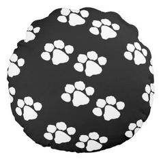 Paw Prints For Pet Owners Round Pillows Personalized