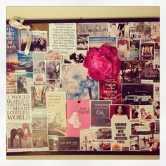 My personal 2014 vision board... learn how you can create a board that will manifest the way mine have (2 boards in 4 years, and a brand new life!) Click the link to see my story