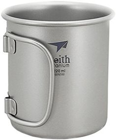 Keith Titanium Cup Folding Handle Camping Mug Outdoor Tableware(220ml.Ti3200): Amazon.co.uk: Sports & Outdoors