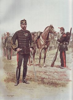 French Army 1900 Sapeur Officer by Édouard Detaille
