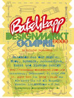 Am 11. April 2015 findet eine neues Event im Kultclub Batschkapp Frankfurt statt: ein Designmarkt für Mode, Schmuck, Wohnaccesoires, Kunst und Vintage Design von Designer und Händler aus ganz Deutschland
