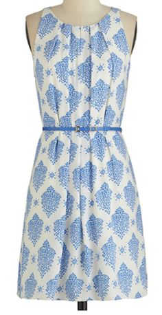 Fresh Spring Rain Dress in Blue. With its chic clusters of blue spots, this printed dress is as refreshing as fallen rain. Pretty Outfits, Pretty Dresses, Cute Outfits, Mini Dresses, Blue Dresses, Looks Style, My Style, Alternative Mode, Retro Vintage Dresses