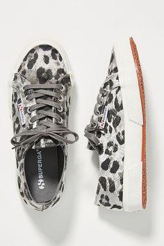 7a29f0e37df Superga Cheetah-Printed Velvet Sneakers