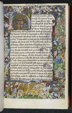 Royal arms of Richard iii in Royal 18 A XII   f. 1. Walton's translation of de re militari