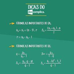 Fórmulas de Progressão Aritmética (P.A.) e Progressão Geométrica (P.G.). Clique na imagem para assistir à aula em vídeo sobre o assunto.