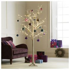 ihana joulupuu 3 sewing pinterest decoration twig tree and christmas trends - White Twig Christmas Tree