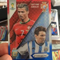 #cristianoronaldo #messi This is the #Prizm #Collection #card #worldcupbrasil2014 #panini www.FigurinhasDeFutebol.com Youtube: FigurinhasDeFutebol #limitededition #copadomundo #brasil #Panini #Cards #FigurinhasDeFutebol #FifaWorldCup #worldcup #cr7 #portugal #argentina #realmadri #barcelona #barça #Matchups