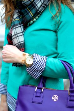 Lots of layers for cold weather campus style