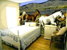 Image result for horse bedroom ideas Bedroom Ideas, Horses, Animals, Furniture, Image, Home Decor, Animales, Decoration Home, Animaux