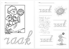 Schrijfblad VVL Kim versie kern 1 raak Speech And Language, Grade 1, Spelling, Homeschool, Activities, Education, Learning, Kids, Occupational Therapist
