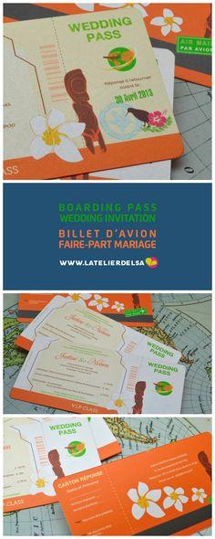 Faire-part Billet d'avion composé de sa carte... | Faire-part & Invitation Blog