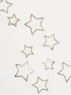 Meri Meri Glitter Star Party Garland at Free People Clothing Boutique – ThePins Pentacle, Narnia, Lito Rodriguez, Glitter Stars, Glitter Slime, Glitter Party, Glitter Dress, Black Glitter, Sabrina Spellman