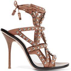 Sophia Webster Mila studded leather lace-up sandal