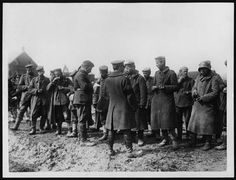 WW1. German POWs being questioned by a Scottish intelligence officer. Sometimes, the sole purpose of a trench raid was to bring back some prisoners for interl. Most of the time, units knew exactly which other units they were facing. These raids were mostly used to gather information on fortifications, dugouts, pillboxes and machinegun positions prior to an attack.