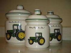 Image Detail For John Deere Tractor Kitchen Canisters For Sale