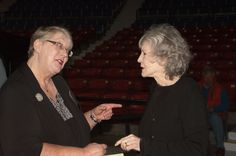 Abigail with Sue Grafton at the Kentucky Book Fair in Frankfort, Ky.