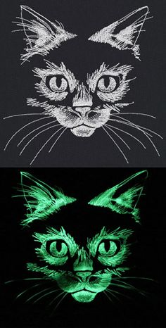 Ideas for embroidery cat pattern urban threads Sewing Machine Tattoo, Sewing Machine Embroidery, Embroidery Stitches Tutorial, Hand Embroidery Designs, Embroidery Ideas, Cat Embroidery, Halloween Embroidery, Urban Threads, Thread Painting
