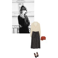that skirt by midnightdancing on Polyvore featuring Totême, Sonia Rykiel and A.P.C.