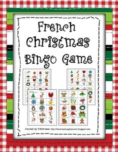 French Christmas Bingo game with 30 Bingo cards! $2