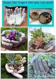 Hvordan man lager hender i betong :)