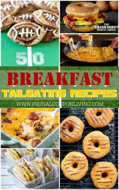 Early Game Tailgate Recipes for Breakfast-Have an early football game? Take a look at these Tailgate Recipes for Breakfast on Frugal Coupon Living. Ideas for a crowd! Tailgating Recipes, Brunch Recipes, Seafood Recipes, Appetizer Recipes, Breakfast Recipes, Cooking Recipes, Football Recipes, Party Recipes, Snack Recipes