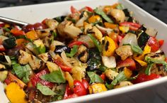 grilled ratatouille potato salad......easy, delicious & healthy......