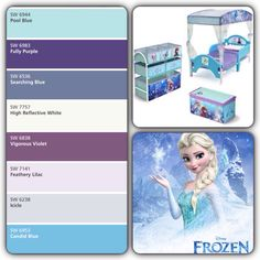 Frozen has become a very popular move amongst little girls now. What sweet little one wouldn't want a bed room inspired by their favorite movie?